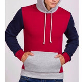 NinjApparel - Fugitive Hoodie - Red Navy Front