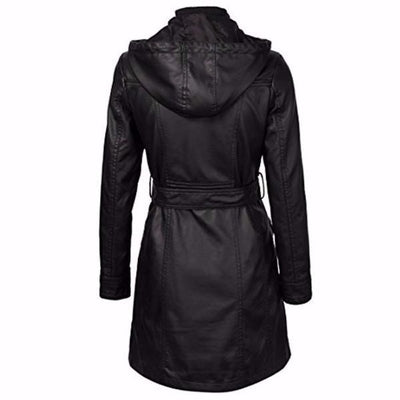 NinjApparel - The Elektra Coat - Black - Back