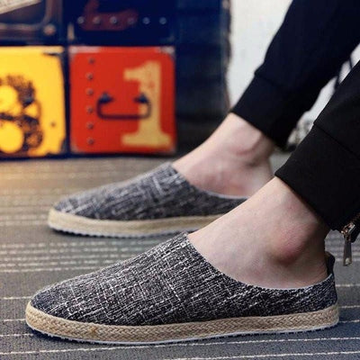 NinjApparel - Samurai Slip Ons -Black - Model