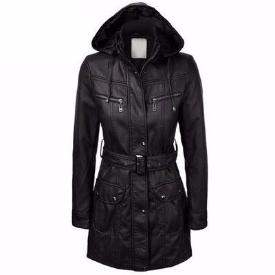 NinjApparel - The Elektra Coat - Cover - Black - Front