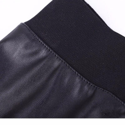NinjApparel - Faux Leather Skirt - Waist Detail