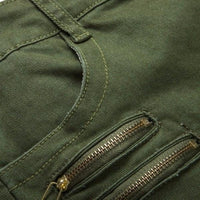 NinjApparel - Invader Joggers - Army Green - Zippers