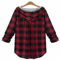 NinjApparel -Plaid Assassin Hoodie  - Red - Back