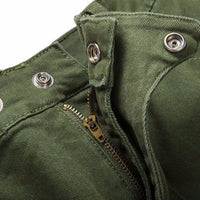 NinjApparel - Invader Joggers - Army Green - Crotch - losure