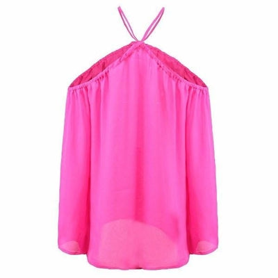 NinjApparel - Criss Cross Shirt - Pink  - Back