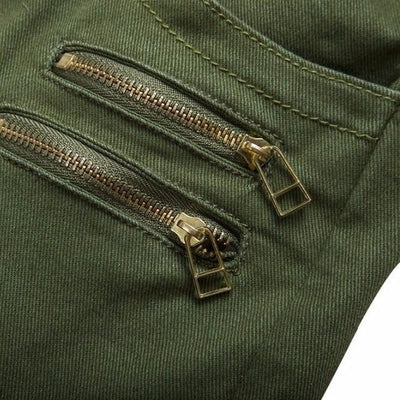 NinjApparel - Invader Joggers - Army Green - Pocket Zipper
