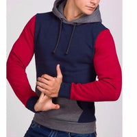 NinjApparel - Fugitive Hoodie - Navy - Red - Side