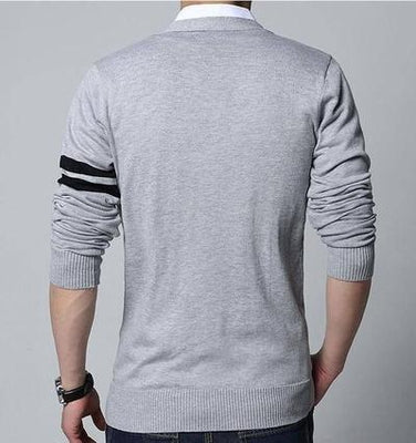NinjApparel - Insignia Cardigan - Grey - Back