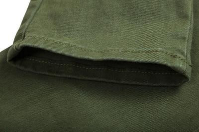 NinjApparel - Invader Joggers - Army Green - Stitching Detail
