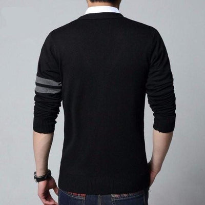 NinjApparel - Insignia Cardigan - Black - Back