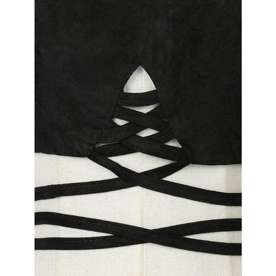 NinjApparel - Criss Cross Crop - Black - Front Detail