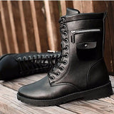NinjApparel - Combat Boots - Side View