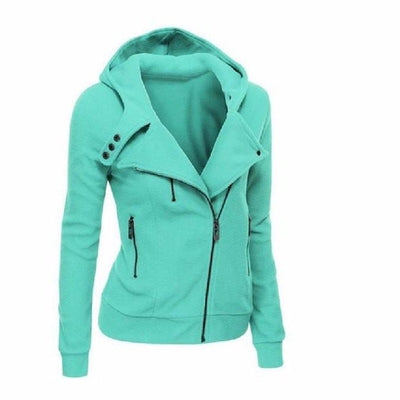 NinjApparel - The Duchess Free-runner - Women - Ladies - Jacket - Tiffany Blue - Side