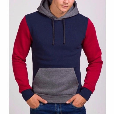 NinjApparel - Fugitive Hoodie -Navy Red - Front