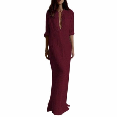 NinjApparel - Mercy Dress - Front - Wine Red - Cover