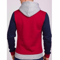 NinjApparel - Fugitive Hoodie -Red Navy Back
