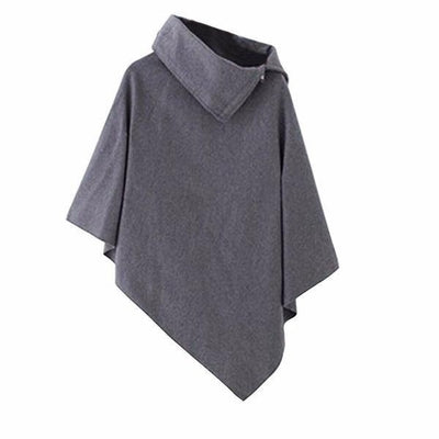 NinjApparel - Aki Poncho - Ladies - Gray - Cover