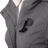NinjApparel - Empress Jacket - Grey - Zipper Detail