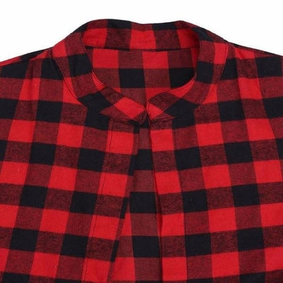 NinjApparel - The Statement Plaid - Collar Detail