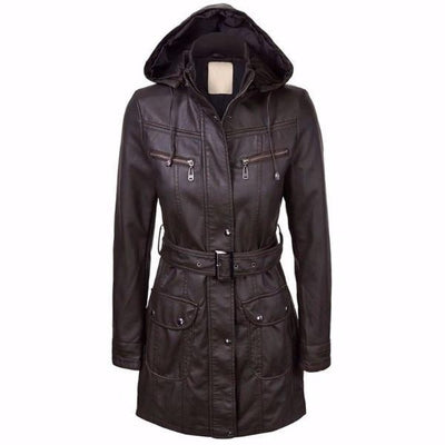 NinjApparel - The Elektra Coat -Coffee - Front