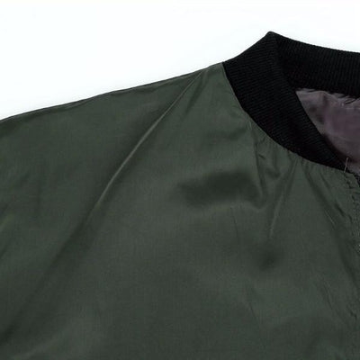 NinjApparel - The Classic Bomber - Collar Detail