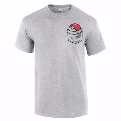 NinjApparel - Poke-Go Tee - Grey - Cover