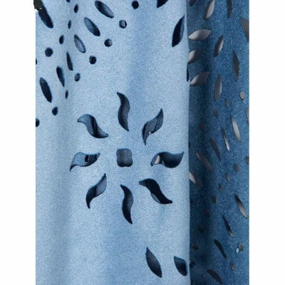 NinjApparel -  Labyrinth Kimono  - Blue  - Cut Out Detail