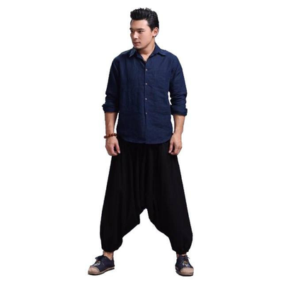 Genie Harem Pants - NinjApparel - Black Front View