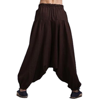 Genie Harem Pants - NinjApparel - Brown Back View