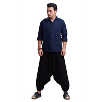 Genie Harem Pants - NinjApparel - Black Front View 2