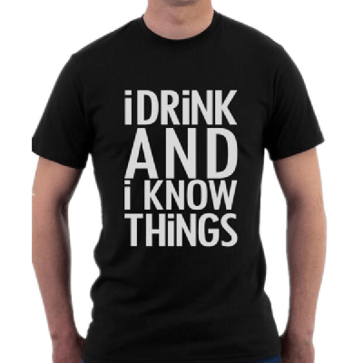 NinjApparel - I Drink And I Know Things - Black
