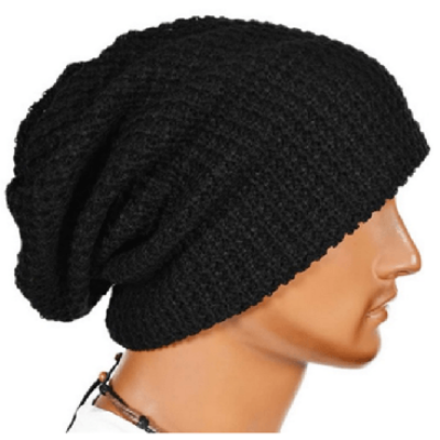 NinjApparel - Knitted Headsock - Black Side View