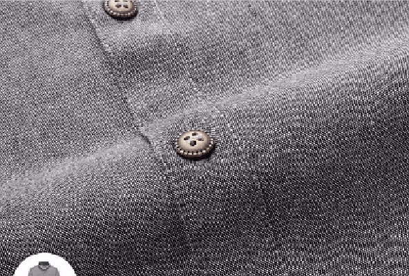 Ninjapparel - Arthur's Stone - Grey -  Front Button Detail
