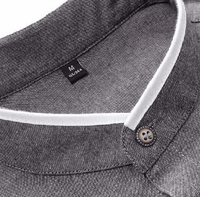 Ninjapparel - Arthur's Stone  - Grey - Button Detail