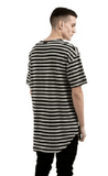NinjApparel - Mime Tee - Black/Grey Back View Short Sleeve