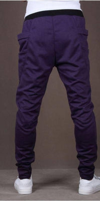 NinjApparel - Drop Crotch Campus Chillers Purple Back View