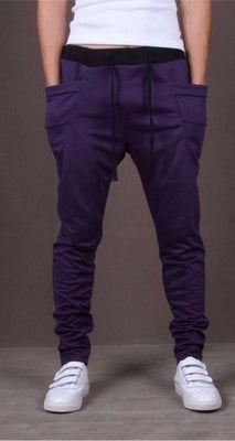 NinjApparel - Drop Crotch Campus Chillers Purple Front View
