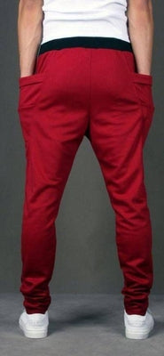 NinjApparel - Drop Crotch Campus Chillers Red Back View