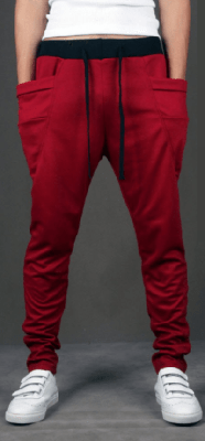 NinjApparel - Drop Crotch Campus Chillers Red Front View