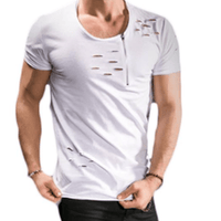 NinjApparel - Ripped Casual Tee - White