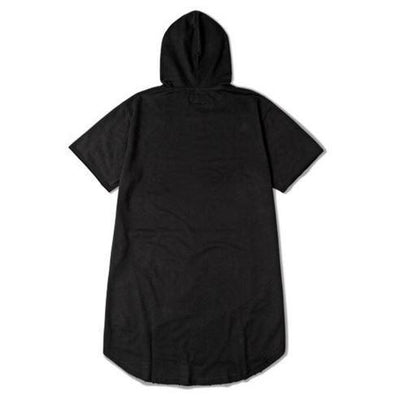 NinjApparel - Ripped Harem Hoodie -  Black Back
