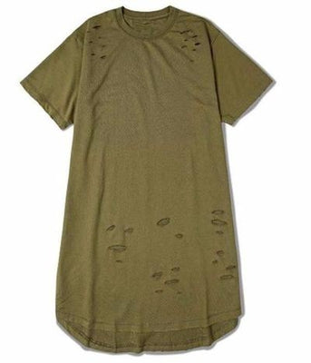 NinjApparel - Ripped Harem Tee - Army Green Actual item