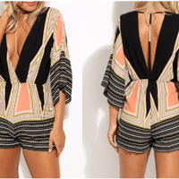 NinjApparel - Symmetrical Playsuit - Front and Back