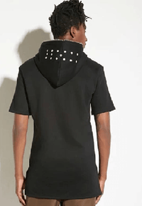 NinjApparel - Summer Harem Hoodie - Black Back View