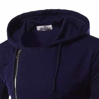 NinjApparel - Dark Saint Hoodie - Blue - Collar Detail
