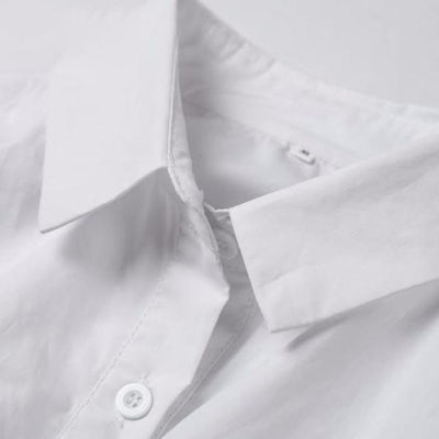 NinjApparel - Divinity Dress  - White - Collar Detail