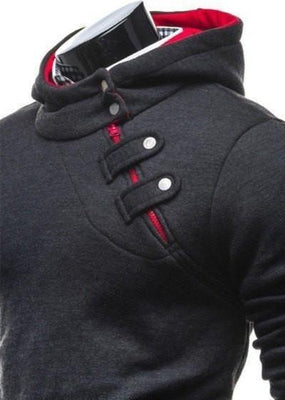 Ninjapparel Waylaid Samurai Black and Red Button Detail
