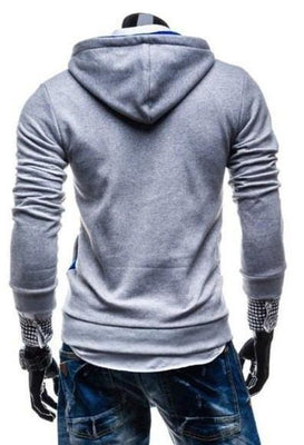 Ninjapparel Waylaid Samurai Grey and Blue Button Back