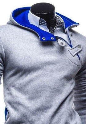 Ninjapparel Waylaid Samurai Grey and Blue Button Detail