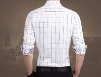 NinjApparel - Chequer Shirt - White Back View